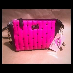 Betsy Johnson Hot Pink Crossbody Bag